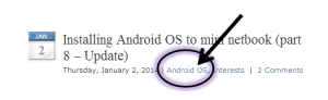 "Screen Shot pointing out Category ""Android OS"""
